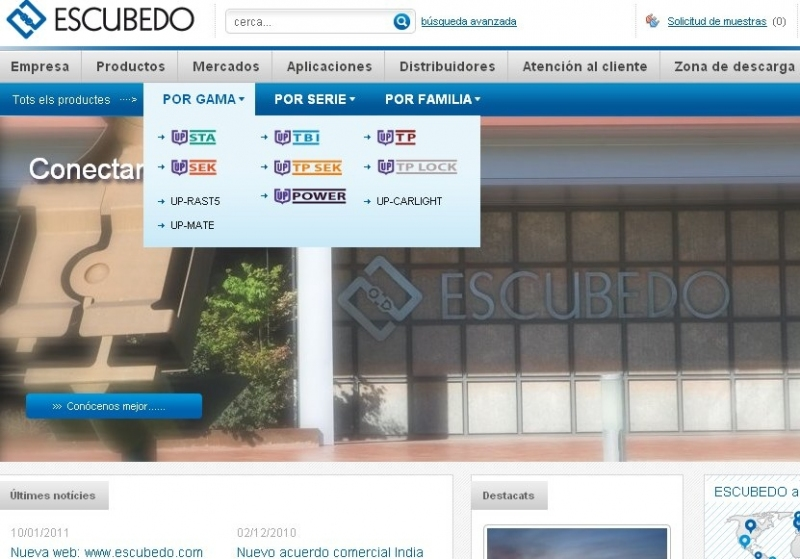 New website: www.escubedo.com